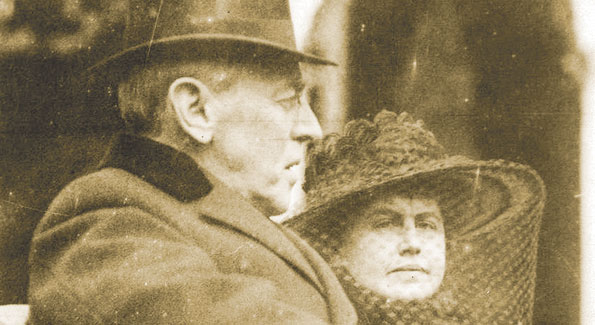 The President and wife Edith, who worked to maintain her husband's legacy until her death.