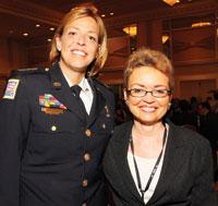 Chief of Police Cathy Lanier and Sharon Pratt