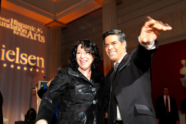 Justice Sonio Sotomayor and Esai Morales