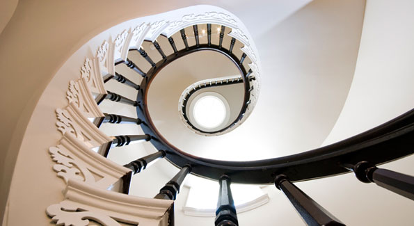 Spiral Staircase Updated by Christian Zapatka to Allow for Greater Light Penetration