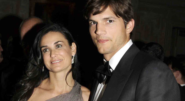 Demi Moore and Ashton Kutcher at Vanity Fair White House Correspondents Association Dinner After-Party Embassy Residence of the French Ambassador