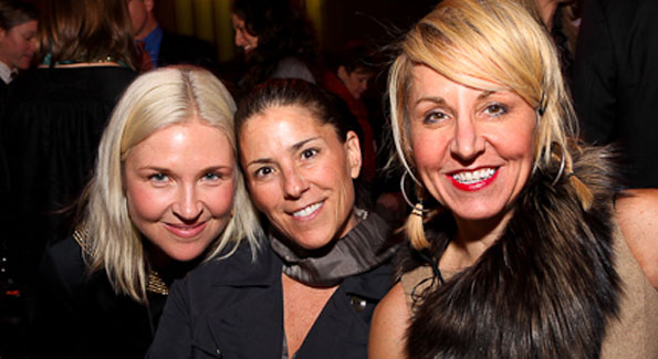 "Kate Damon, Nicole Boxer, and Nicole Backus. ""Journey to Mecca"" IMAX Gala Screening. Museum of Natural History. (photo by Tony Powell)"