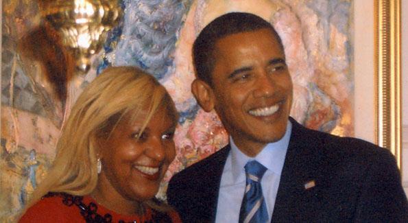 Raymone Bain & The President of the United States Barack Obama