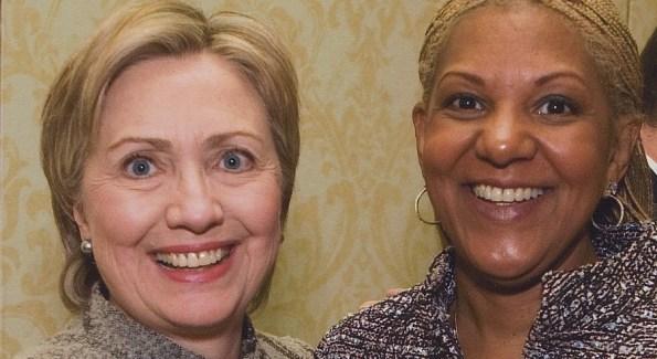 Secretary of State Hillary Clinton & Raymone Bain