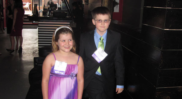Skyler Hundley, 7, and Andrew Luckabaugh, 10, the Leukemia and Lymphoma Society's 2010 Girl and Boy of the Year, are the inspiration behind the Man and Woman of the Year 2010's goal to raise $1 million. (Photo by Jane Hess Collins)