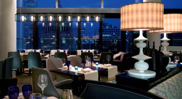 Inside the Azure Restaurant at Hotel LKF