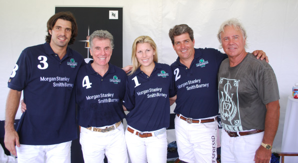 "Ignacio ""Nacho"" Figueras, John Walsh, Ashley Van Metre, Juan Salinas-Bentley, and Beau Van Metre. Photo by Roshan Farazad"