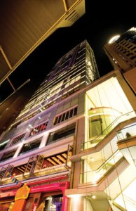 Exterior of Hotel LKF in the heart of Lan Kwai Fong