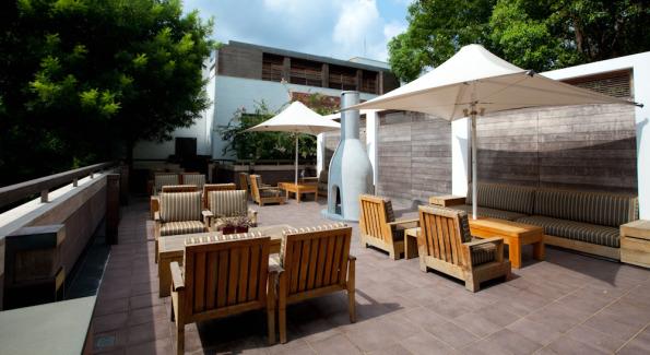 Modern Outdoor Seating at Villa 32