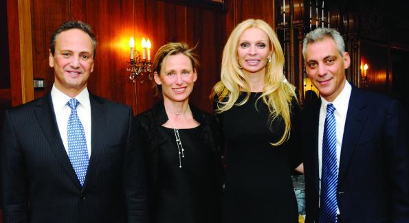 Ambassador Salem Al-Sabah, Amy Emmanuel, Rima Al-Sabah, Rahm Emmanuel.