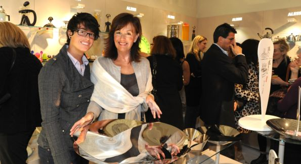 Katie and Diane Peacor browse at the Alessi store. Photo by Neshan Naltchayan.
