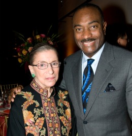 Reginald Van Lee and Justice Ruth Bader Ginsburg. Courtesy of Jeremy Norwood Photography.