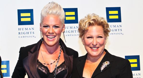 P!nk and Bette Midler show their support at the 14th Annual HRC Dinner.