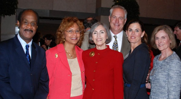 From left: County Executive Isiah Leggett, Catherine Leggett, Carol Trawick, Craig Ruppert, Michelle Freeman, Barbara Bainum.