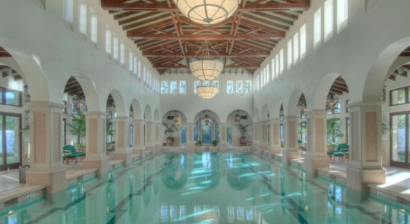 The pool at The Spa at Sea Island. Photo Courtesy of The Cloister at Sea Island.