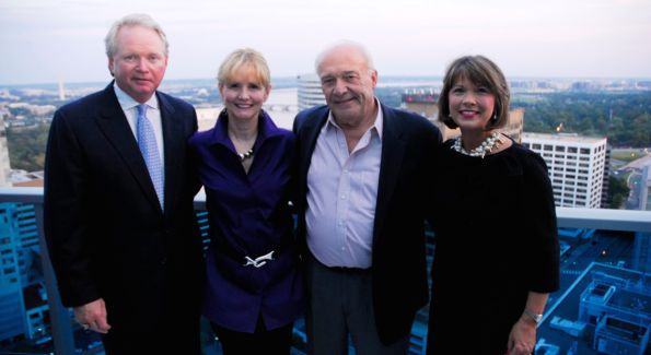 Bruce Arnett, Carolyne Starck, William Nack, and Patsy Arnett. Photo by Kyle Samperton.