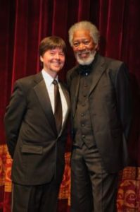National Archives 2010 Records of Achievement Awardee Ken Burns and Gala Chair Morgan Freeman. Image courtesy of PhotographyByAlexander.com.