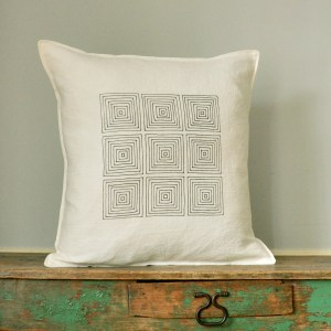 Screen Printed, hand sewn throw pillow covers