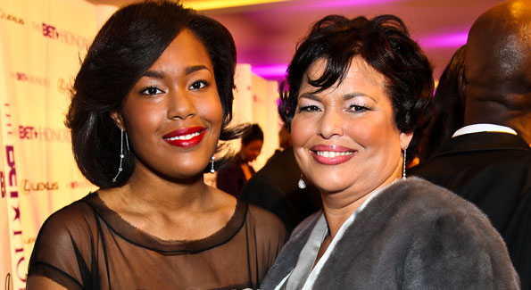 Ava Coleman and Debra Lee. BET Honors Red Carpet. Photo by Tony Powell.
