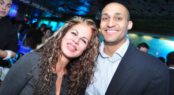 Luxxery Medical Spa's Hiba Hakki and Washington Post Live's Ivan Carter. Image by Karllito Antonio.
