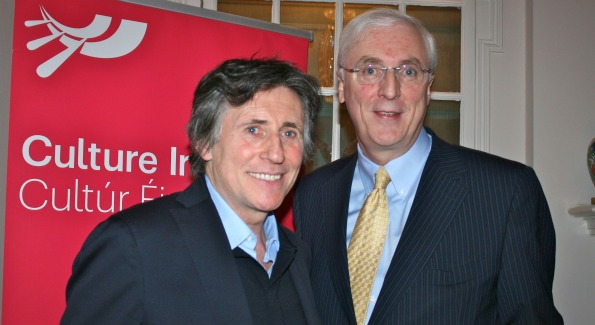 Actor Gabriel Byrne and Irish Amb Michael Collins (Photo by Janet Donovan)