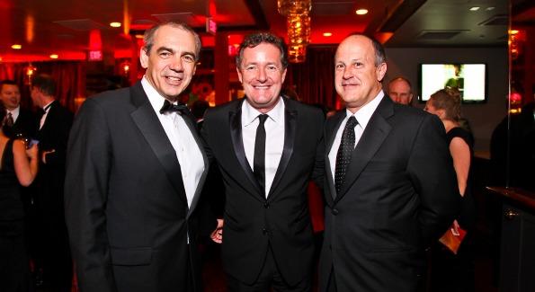 Executive Vice President of CNN Ken Jautz, Piers Morgan, President of CNN Worldwide Jim Walton. CNN Congressional Correspondent's Dinner After Party. Photo by Tony Powell.