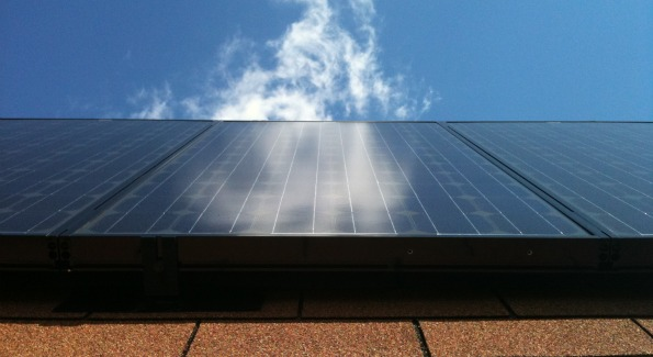 A solar panel at work. Photo courtesy of Long Energy Solutions.