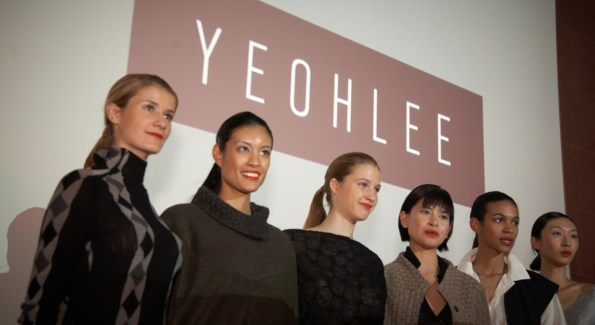 Models at the Yeohlee fashion show.