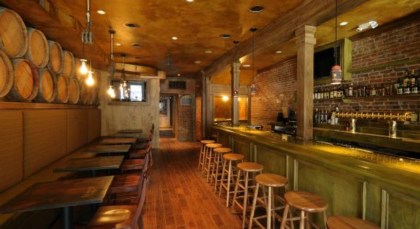 The main bar at Irish Whiskey.
