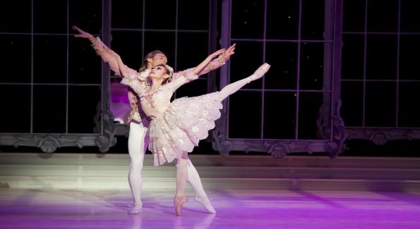 Maki Onuki and Jared Nelson in Cinderella. Eisenhower Theater, The Kennedy Center. Photo by Brianne Blan.