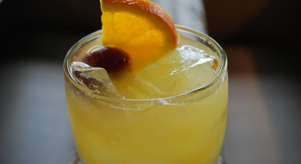 The Black-Eyed Susan at Acadiana, the traditional drink of The Preakness Stakes. Photo courtesy of Acadiana.