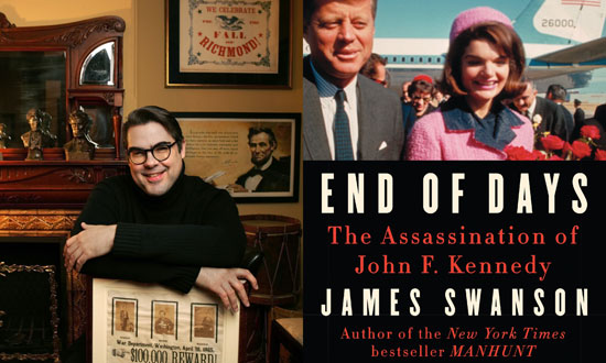 Author James Swanson and his new book 'End of Days: The Assassination of John F. Kennedy.""