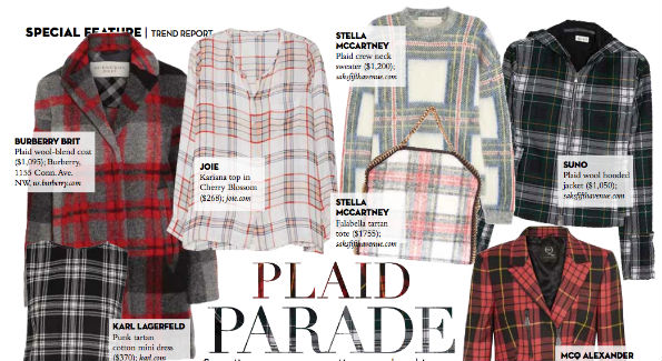 Alison McLaughin's expanded 4-page trend report includes chic plaid, military and black-and-white options.