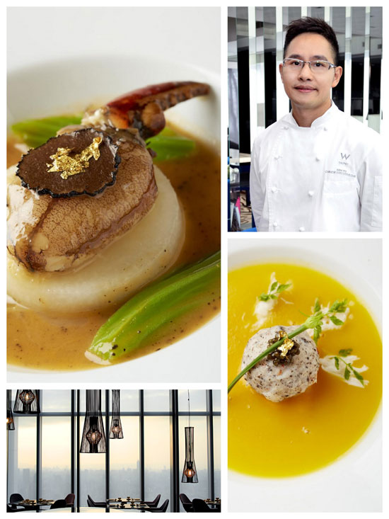 Clockwise from top left: The Beauty, Chef Ken Yu, The Pearl and the restaurant. (Courtesy photos)