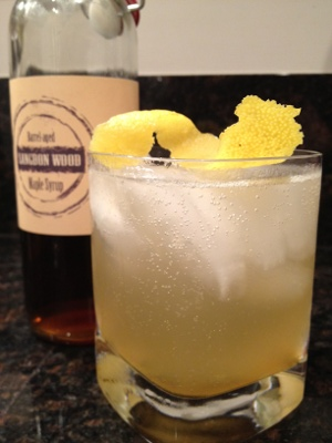 The Colonel Langdon uses barrel aged maple syrup and Catoctin Creek's Mosby's Spirit. Photo courtesy of Catoctin Creek.