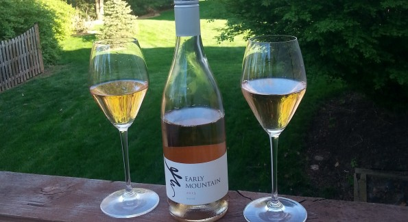 Early Mountain Vineyards from Virginia creates a Merlot-based rosé. Photo courtesy Kelly Magyarics.