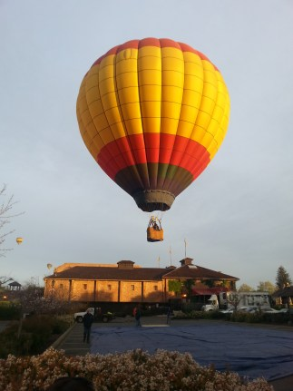 A hot air balloon ride over Yountville gives you a unique perspective. Photo courtesy of Kelly Magyarics.