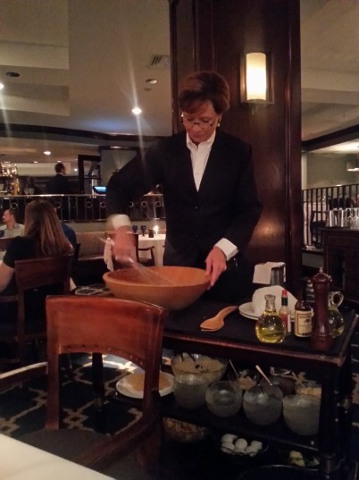 The Caesar Salad is prepared tableside at Seagar's. Photo courtesy Kelly Magyarics.