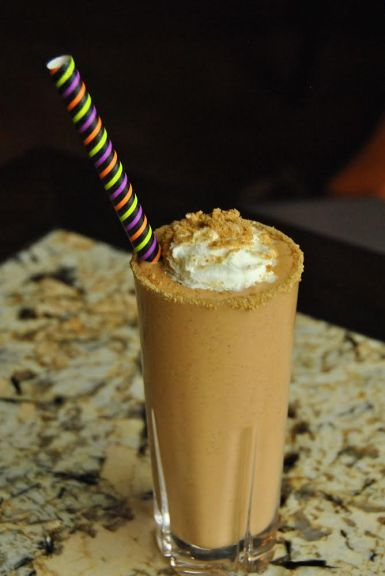 This pumpkin-y milkshake gets a nice kick from an ample pour of Bulleit Bourbon. Photo courtesy of Mia DeSiomone/TAA PR.