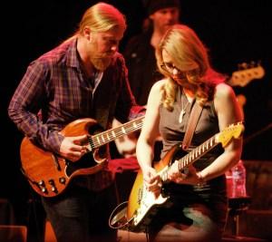Derek Trucks with wife Susan Tedeschi; their Tedeschi Trucks Band plays the Warner Theater Feb 20 and 21 (courtesy Mark Robbins)