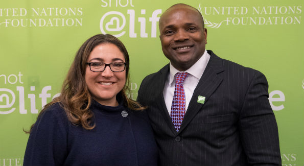 Jo Frost and Dennis Ogbe