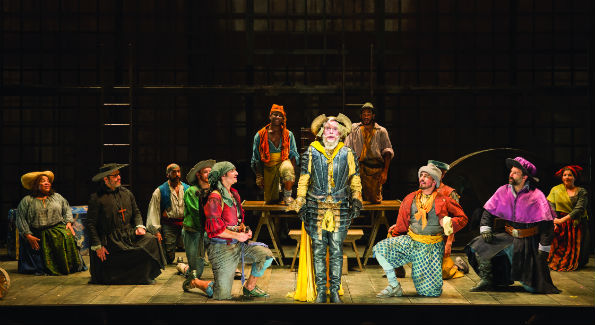 The cast of the Shakespeare Theatre Company's production of Man of La Mancha, directed by Alan Paul. (Photo by Scott Suchman)