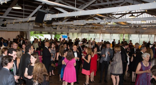 "The Park's ""Bumper Car Pavilion"" filled with guests for the Gala in the Park reception."