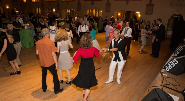 The evening included two live bands and dancing in the historic Spanish Ballroom and the Bumper Car Pavilion.