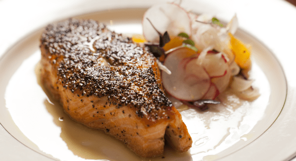 Salmon au poivre (Photo courtesy Joe's Seafood, Prime Steak & Stone Crab)