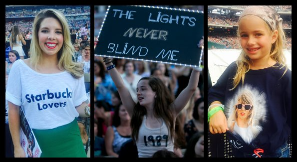 """Swifties"" at the show (Photos by John Arundel and Cecilie Olaussen)"
