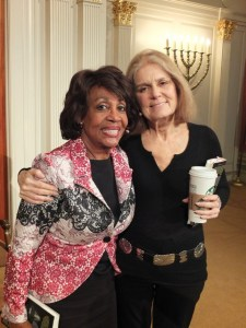 Maxine Waters and Gloria Steinem (Photo by Bruce Guthrie)