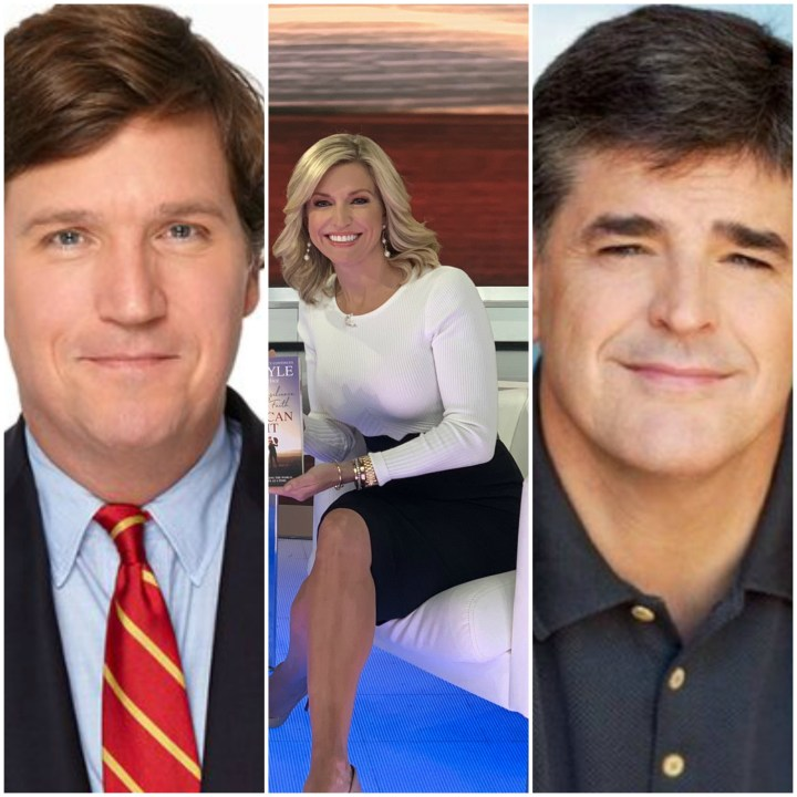 Tucker Carlson, Ainsley Earhardt and Sean Hannity