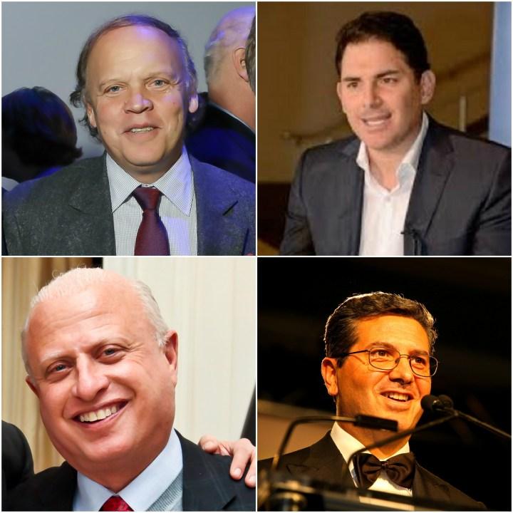 Mark Ein, Jason Levien, Mark Lerner and Dan Snyder