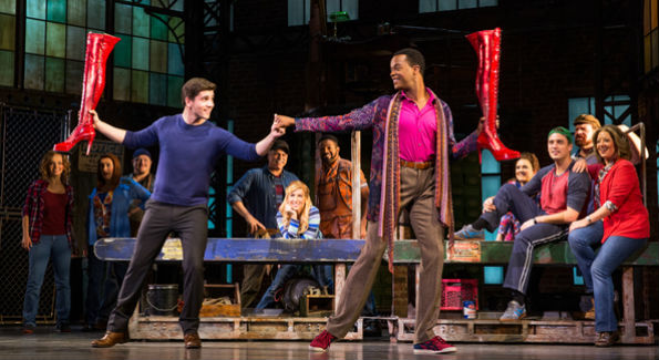 """Kinky Boots"" national touring company. (Photo by Matthew Murphy)"